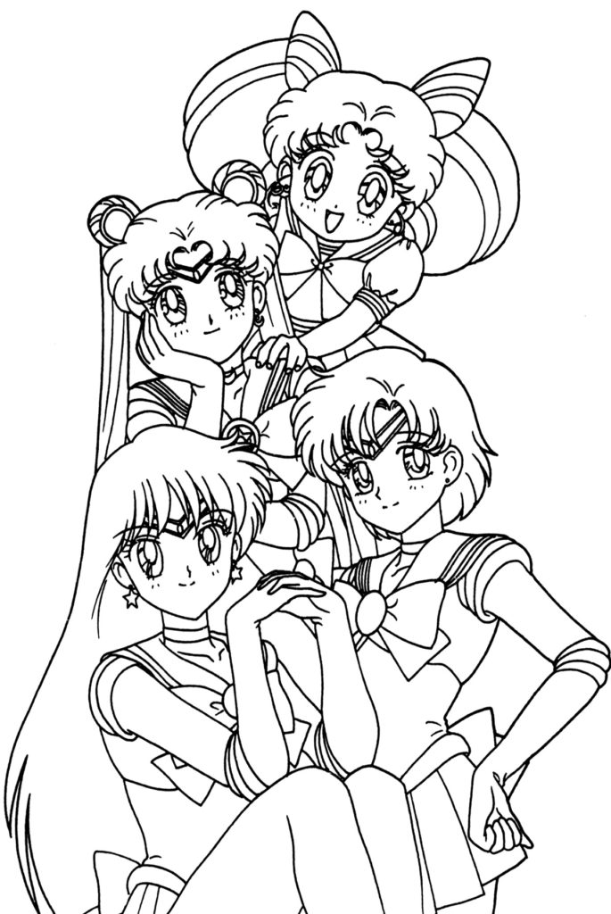 685x1024 Anime Coloring Pages