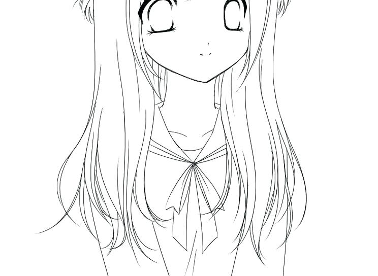 744x544 Anime Girl Coloring Pages Anime Girls Coloring Pages Anime Girl