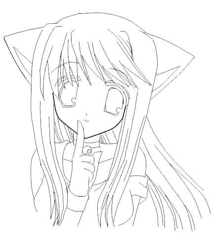 433x480 Anime Girls Coloring Pages Online Coloring Pages Girls Anime Girls