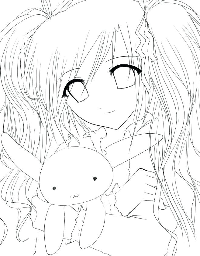 658x839 Cartoon Girl Coloring Pages Anime Girl Coloring Pages Colouring