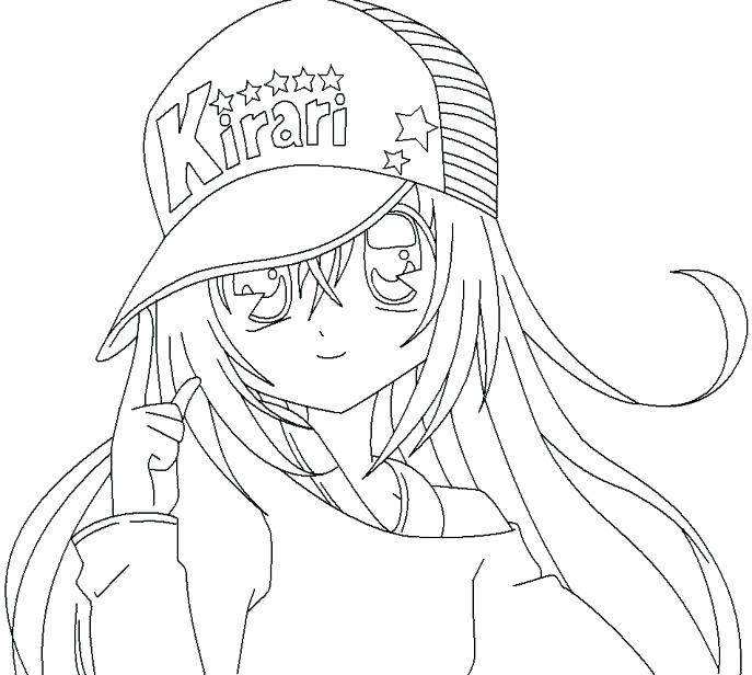 687x616 Chibi Anime Coloring Pages Cute Coloring Pages Of Girls Photograph