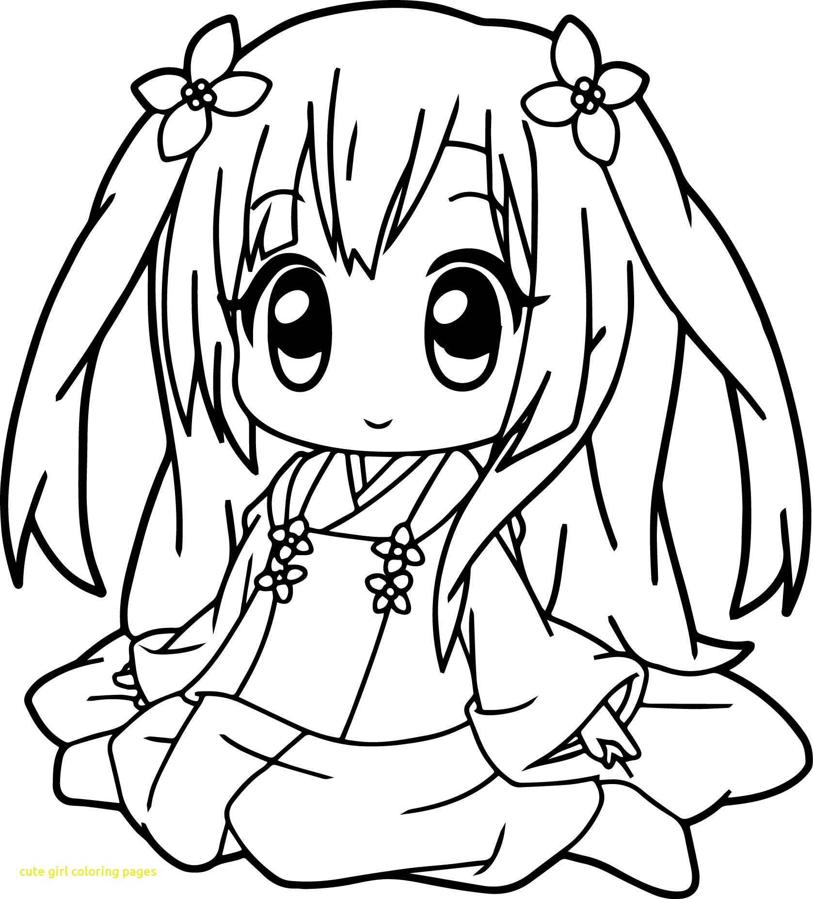 1677x1854 Cute Anime Coloring Pages Qqa Me Inside