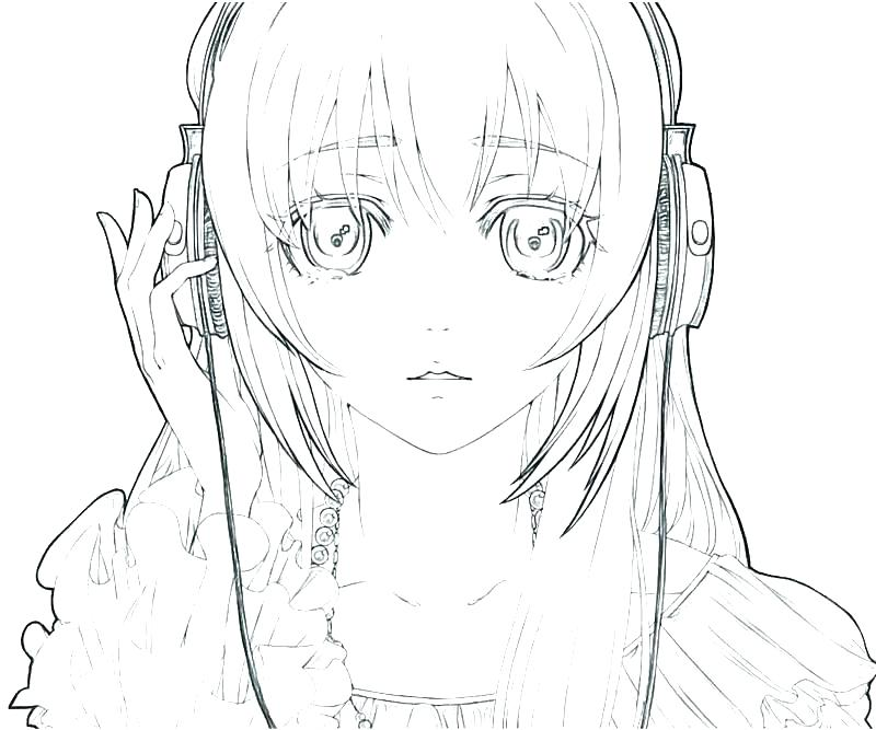 800x667 Cute Girl Coloring Pages Anime Girl Coloring Page Coloring Page