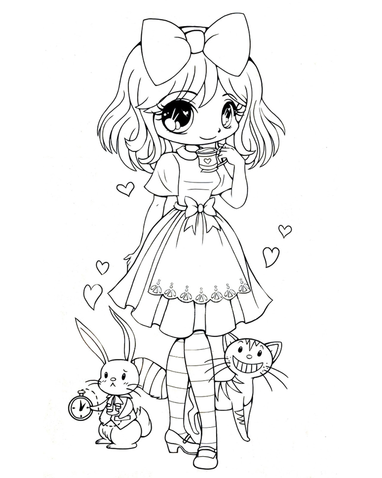 1280x1600 Good Anime Coloring Pages With Anime Girl Coloring Pages Free