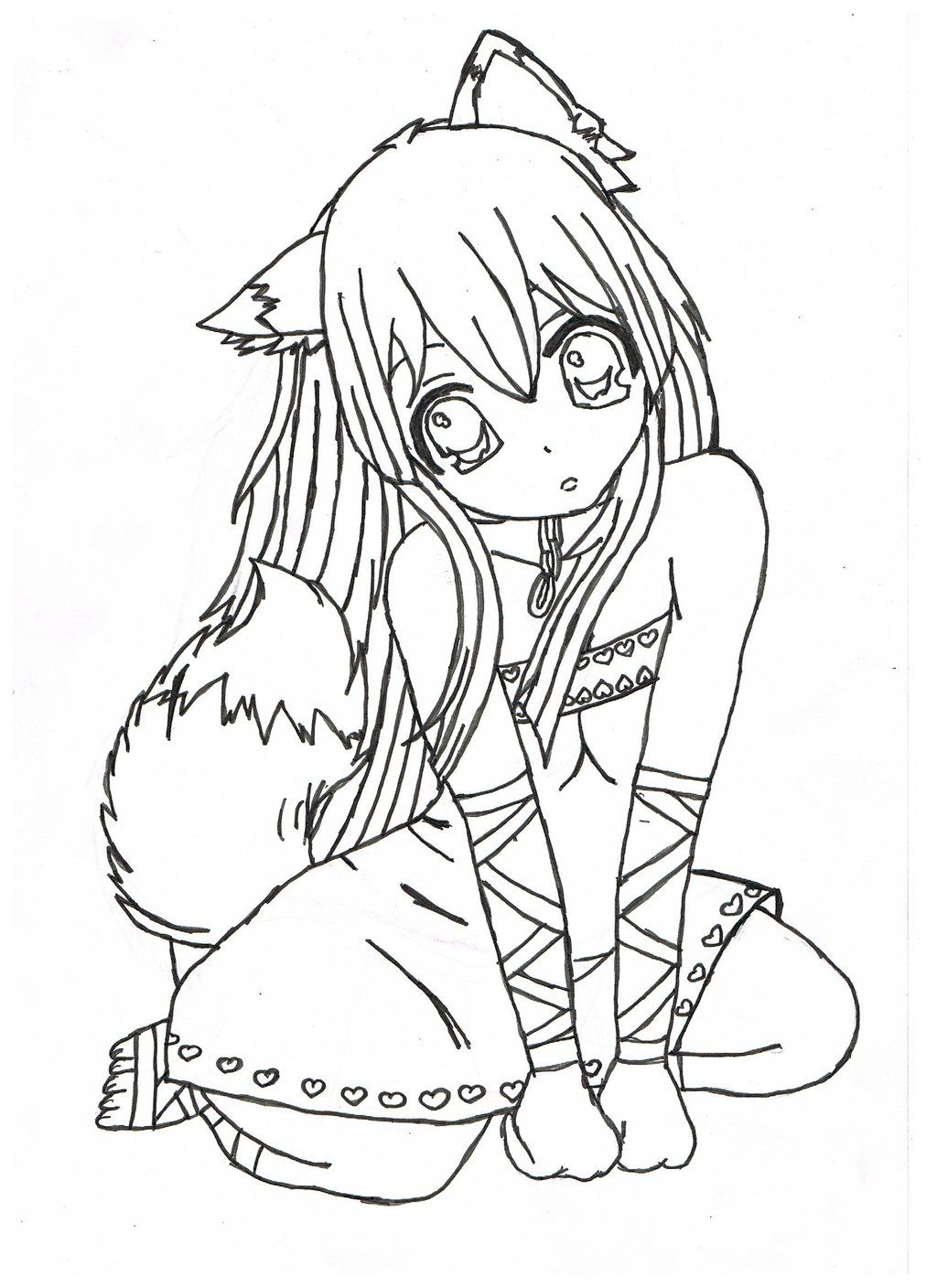 1024x1408 Nice Brilliant Anime Girl Coloring Pages Free Coloring Pages