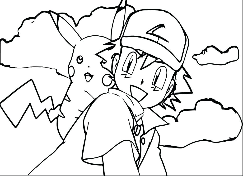 1024x741 Coloring Pages Cartoons Ash Boy From Anime Coloring Pages For Kids