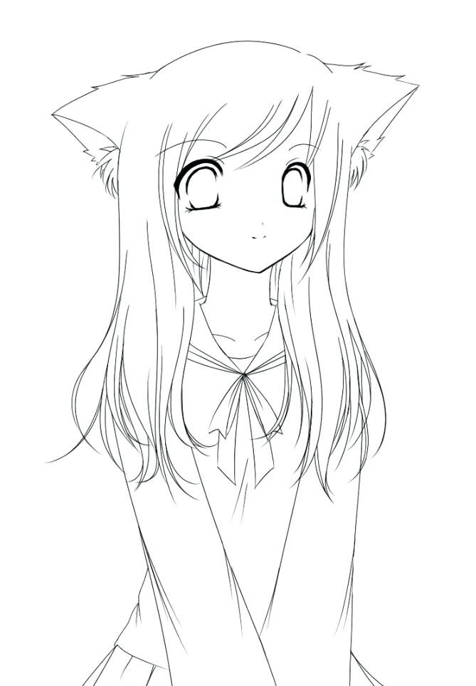 669x964 Anime Girl Coloring Pages Free Anime Coloring Pages Girl View