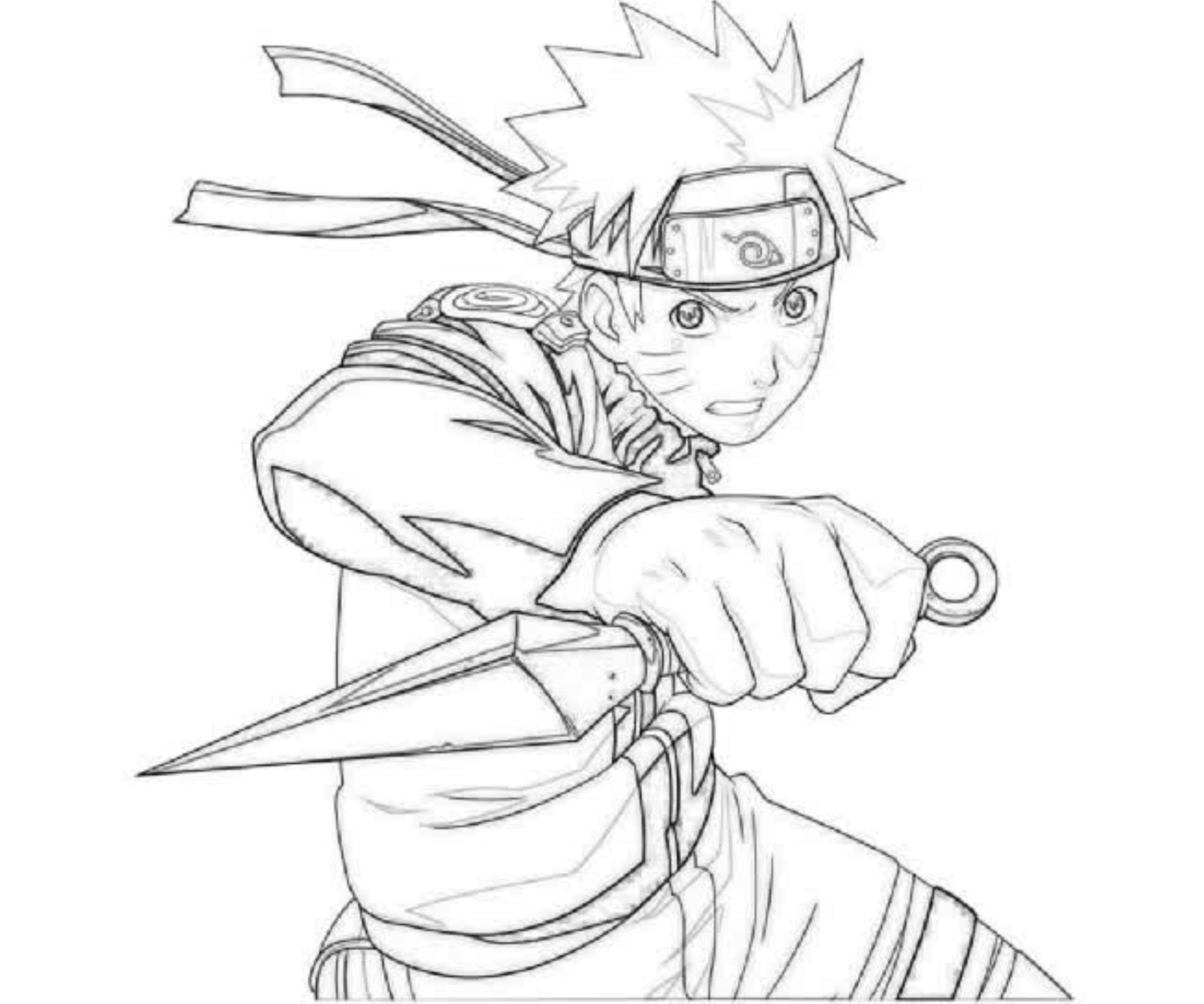 The best free Naruto coloring page images. Download from ...