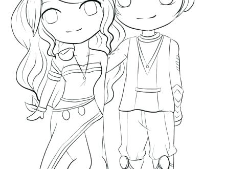 440x330 Coloring Pages Of Anime Cute Couple Coloring Pages Anime Couples