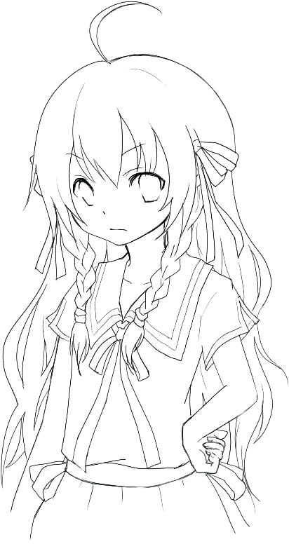 412x776 Free Anime Coloring Pages Coloring Anime Pages Packed