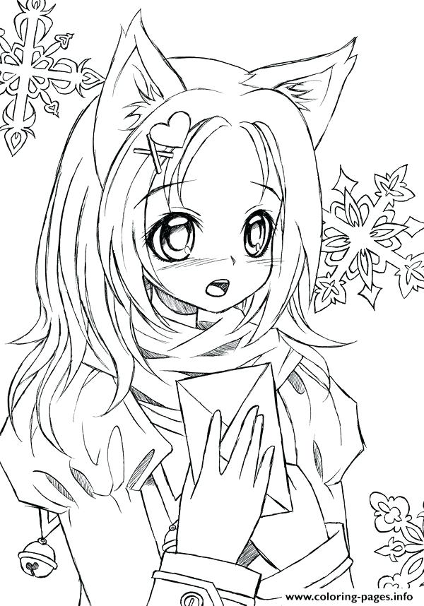 600x858 Anime Coloring Pages Printable Cute