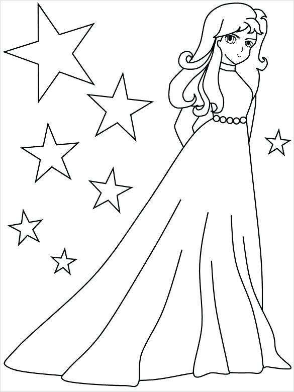 585x780 Anime Coloring Pages To Print Girl Coloring Sheets Also Glorious