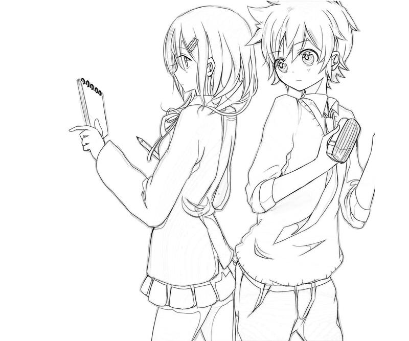 800x667 Tremendous Anime Couples Coloring Pages Wolf Kissing Cute