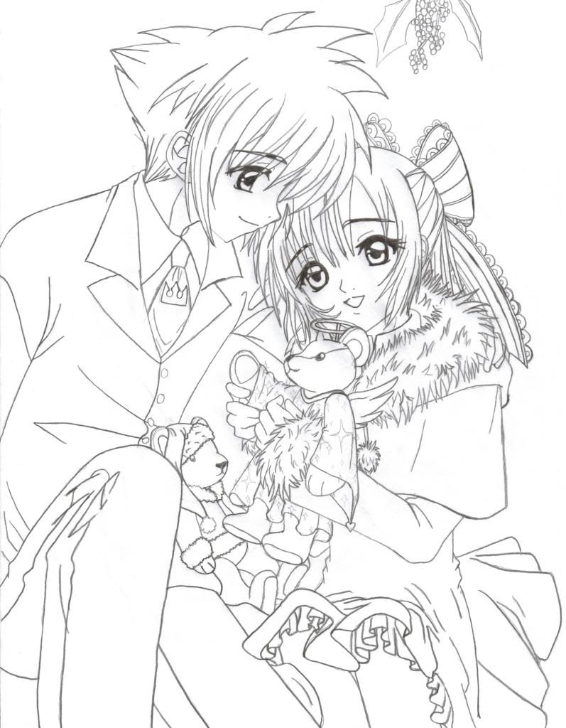 797x1024 Anime Coloring Pages Anime Christmas Couple Colouring Pages Anime