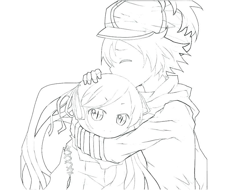 800x667 Anime Girl Coloring Page