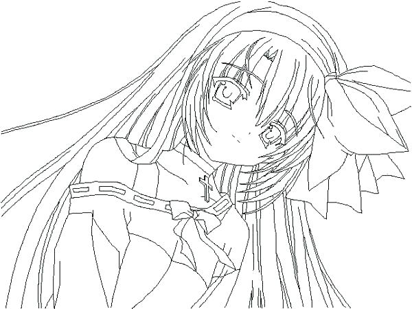 600x450 Anime Coloring Pages Printable Anime Girls Coloring Pages Cute