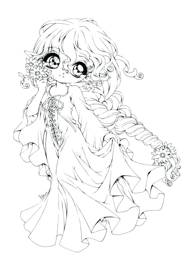 615x857 Cute Anime Coloring Pages Emo Anime Girl Coloring Pages Cute Anime
