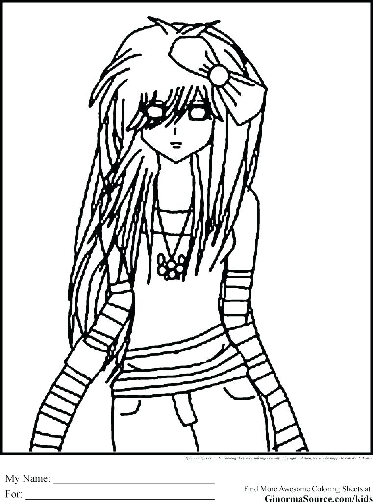 761x1024 Emo Coloring Pages Emo Teddy Bear Coloring Page Anime Emo