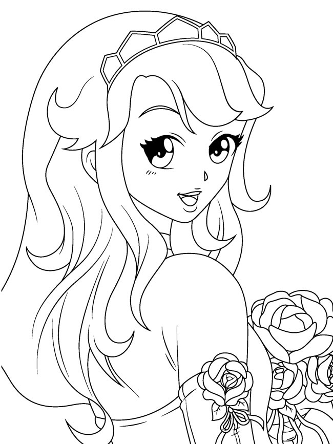 Anime Eyes Coloring Pages