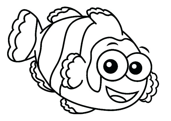 600x425 Eyes Coloring Pages Clown Fish With Big Eyes Coloring Pages Anime