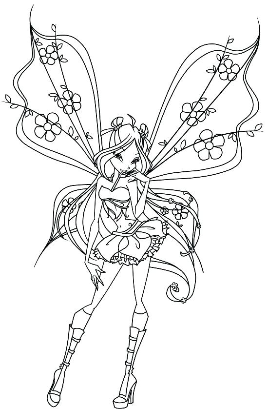 550x838 Detailed Fairy Coloring Pages Fairy Coloring Pages Anime Fairy