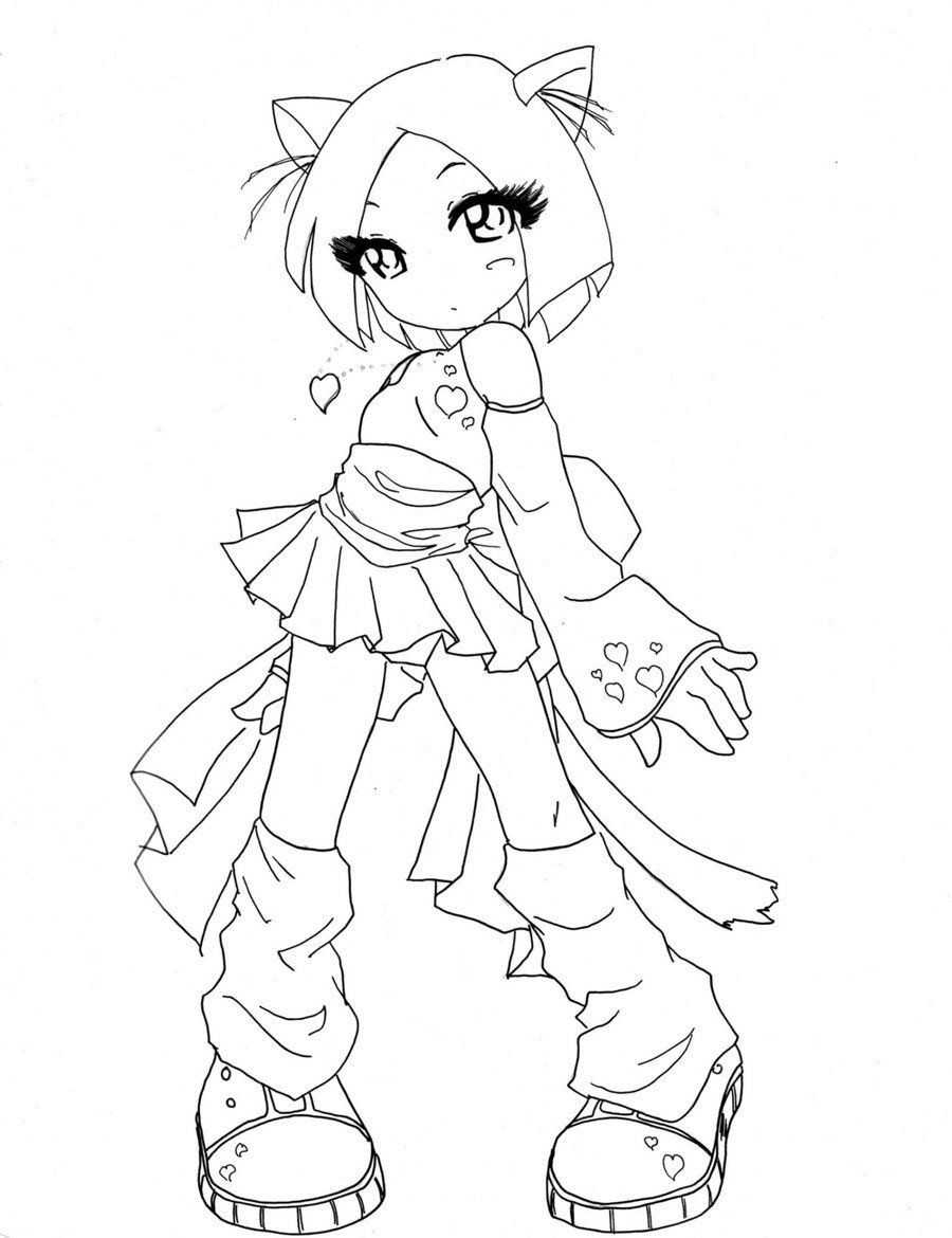 900x1170 Awesome Chibi Coloring Pages Coloringsuite
