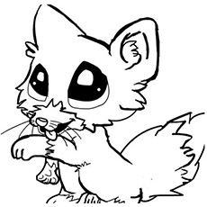 230x230 Baby Fox Coloring Pages