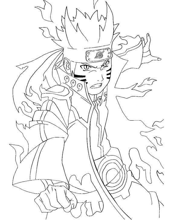 589x736 Coloring Pages Anime And Naruto Coloring Pages Nine Tailed Fox