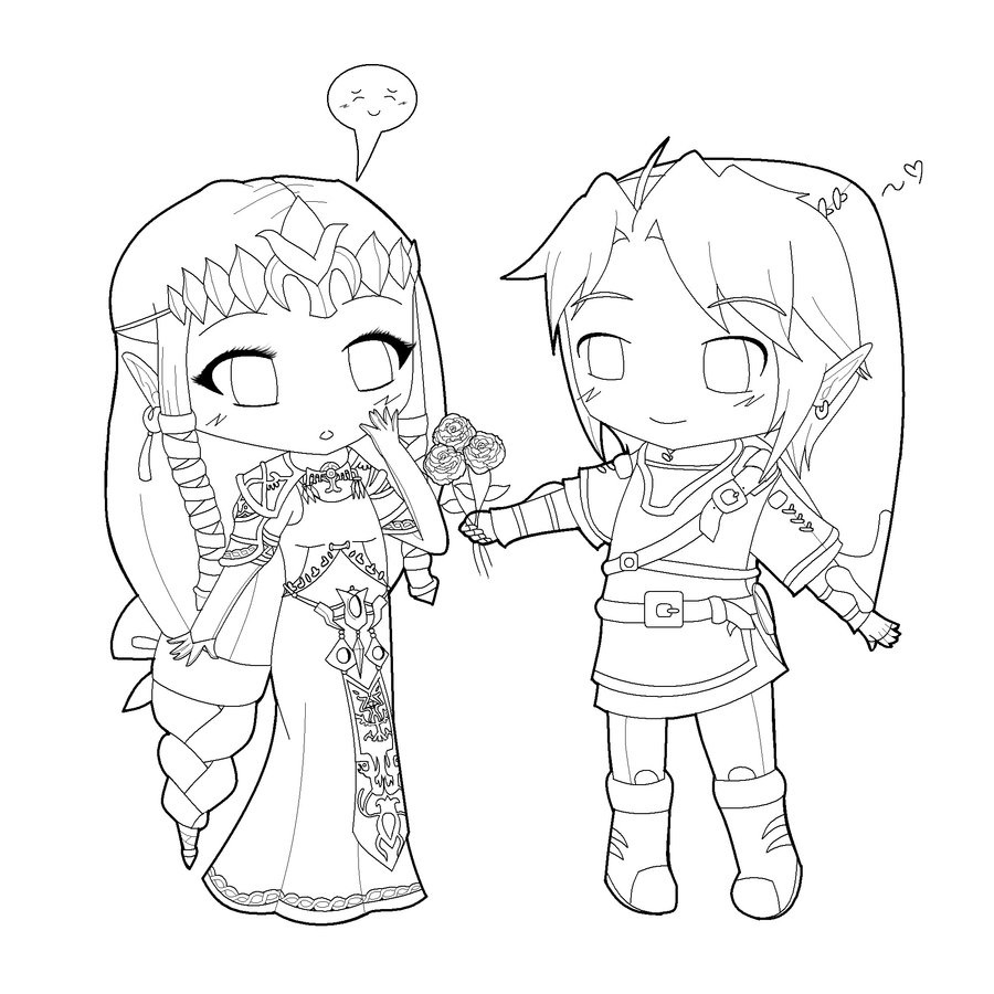 900x900 Cool Chibi Coloring Pages Coloringsuite