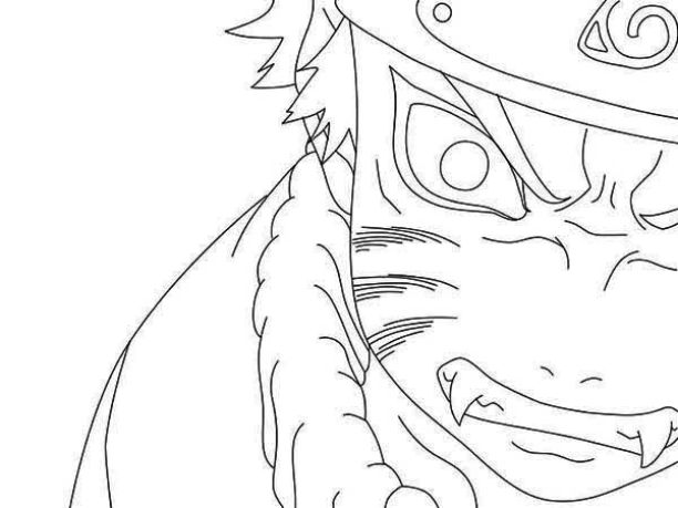 612x459 Naruto Coloring Pages Nine Tailed Fox In Cure Page Paint Anime