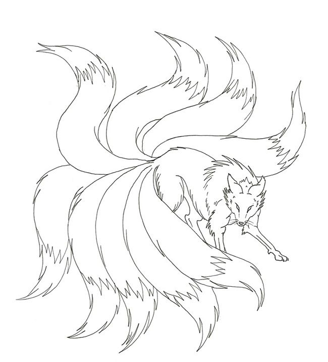 650x717 Naruto Nine Tails Coloring Pages Coloring Pages