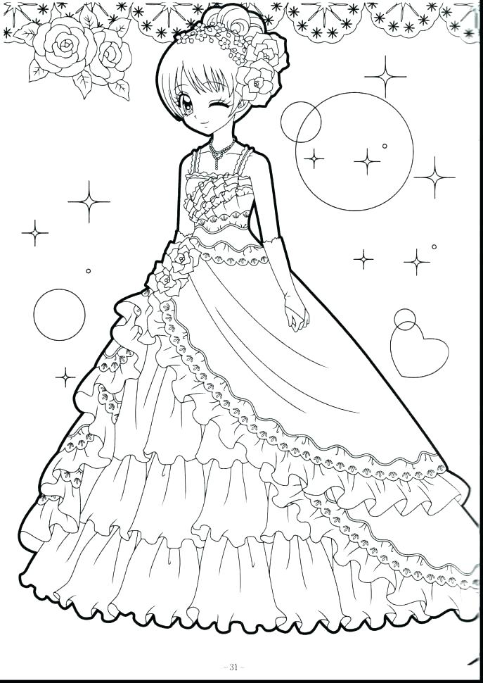 687x970 Anime Girl Coloring Page Anime Girls Coloring Pages Cute Girl