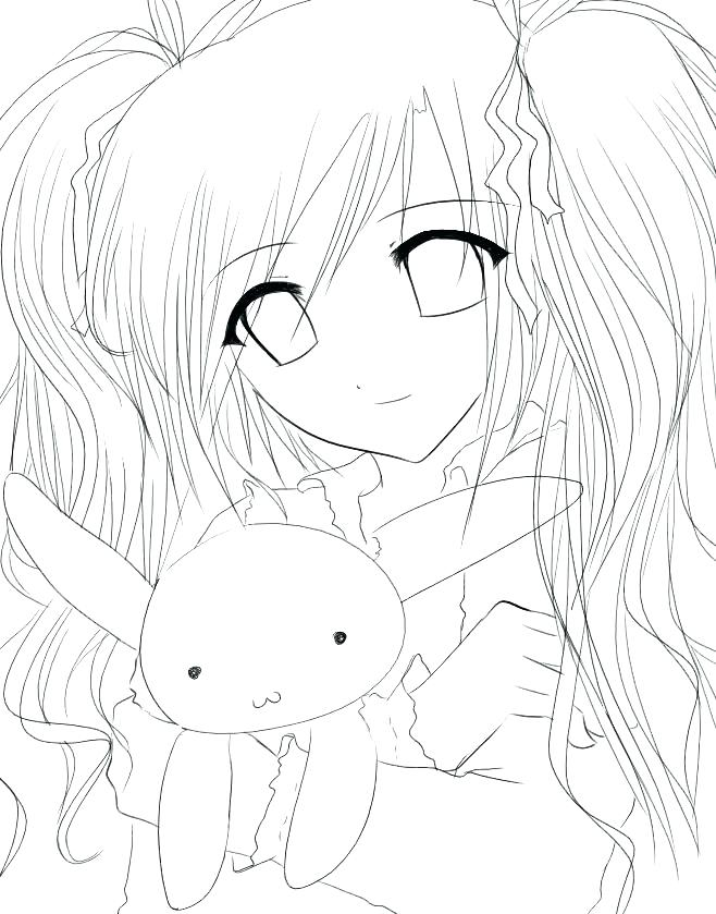 Anime Girl Coloring Pages At Getdrawings Com Free For Personal Use