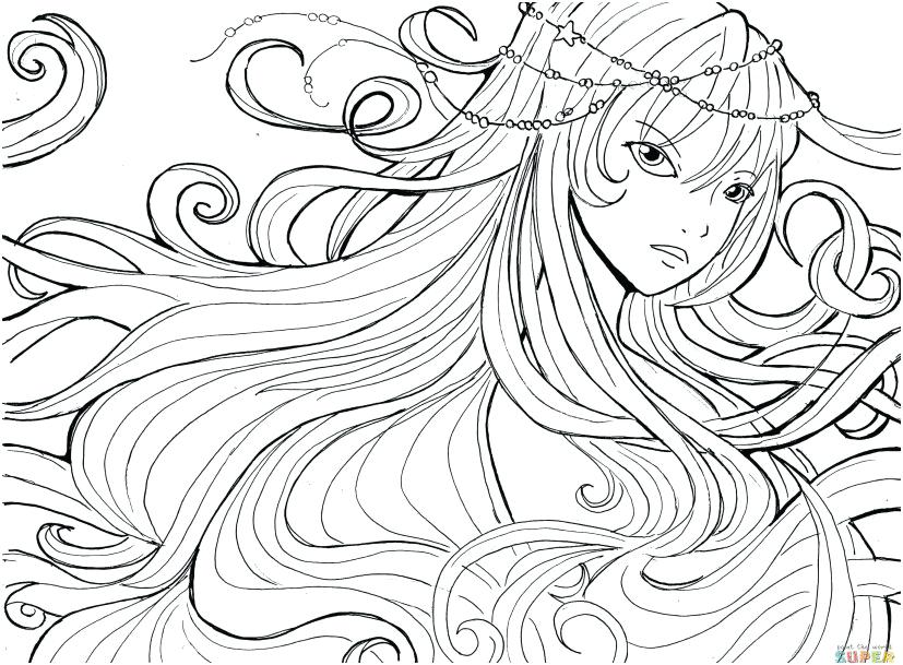 827x609 Anime Girl Coloring Pages Anime Coloring Pages Printable Image