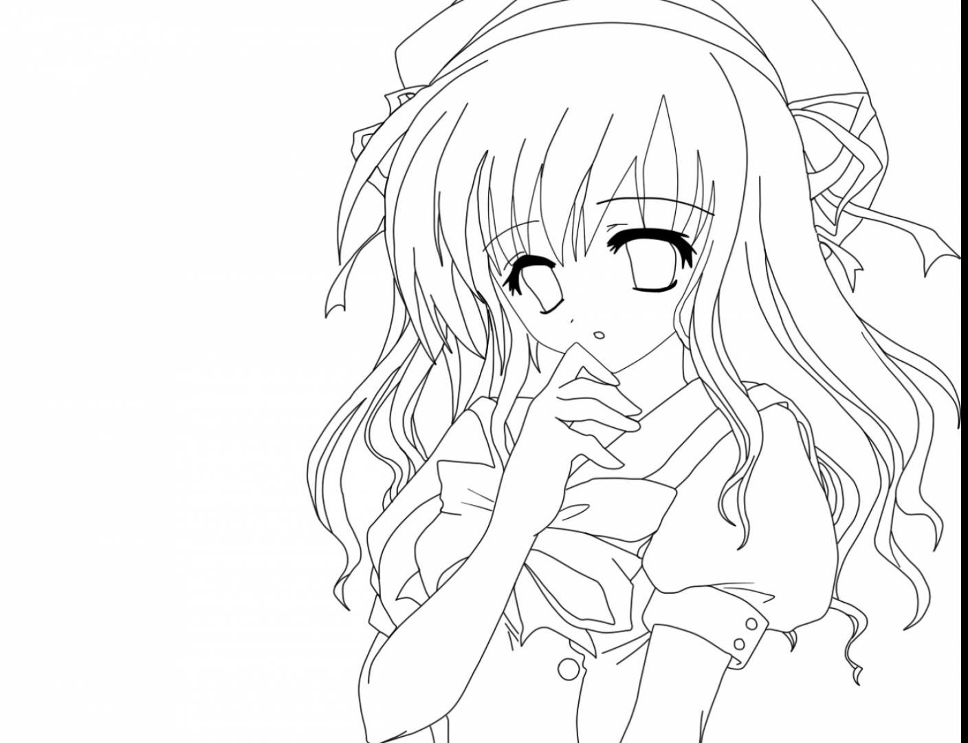 1408x1080 Astonishing Anime Girl Coloring Pages Best Friends Free Printable
