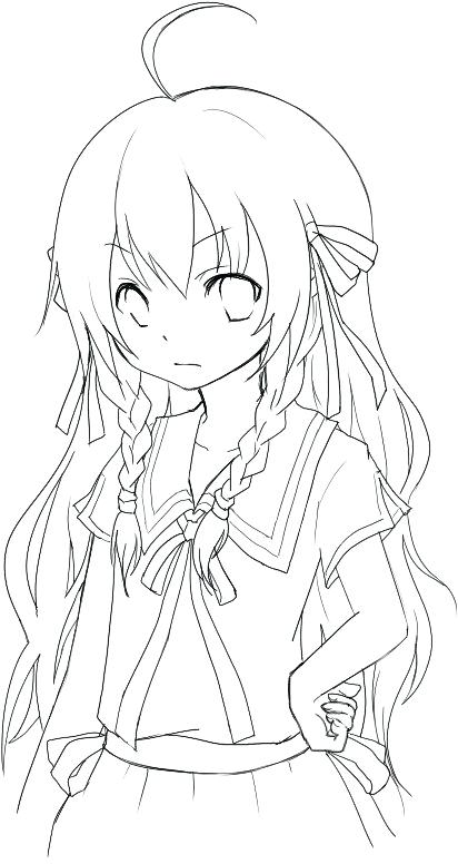 412x776 Cartoon Girl Coloring Pages Anime Coloring Pages Anime Girl