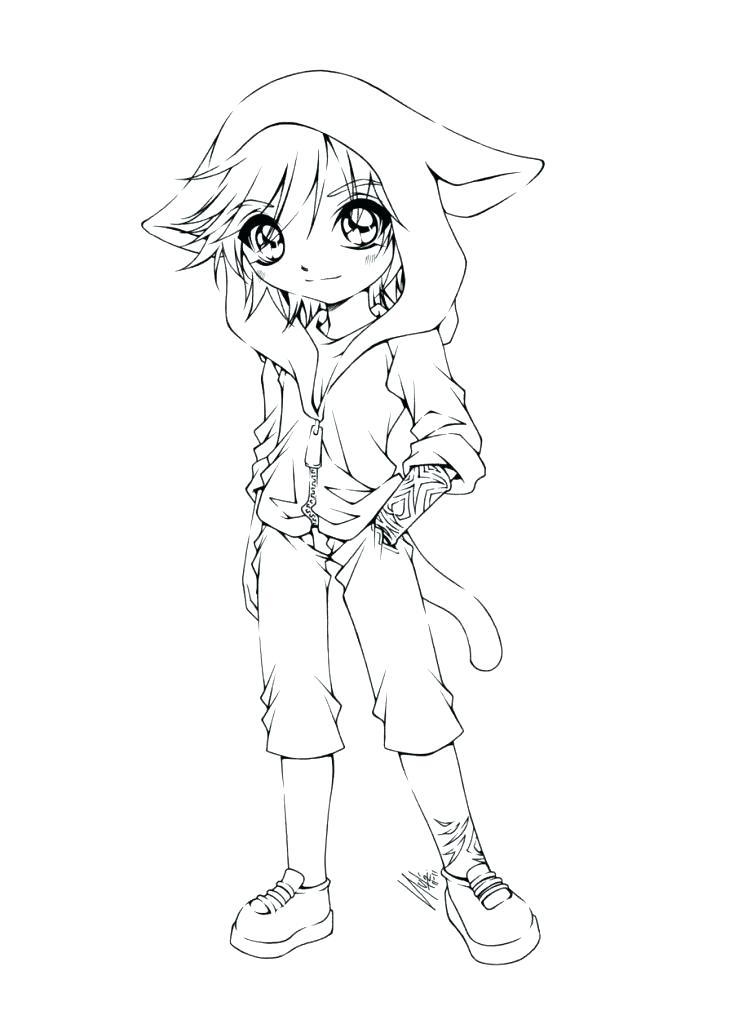 734x1024 Anime Color Page Anime Color Page Anime Fox Girl Cute Coloring