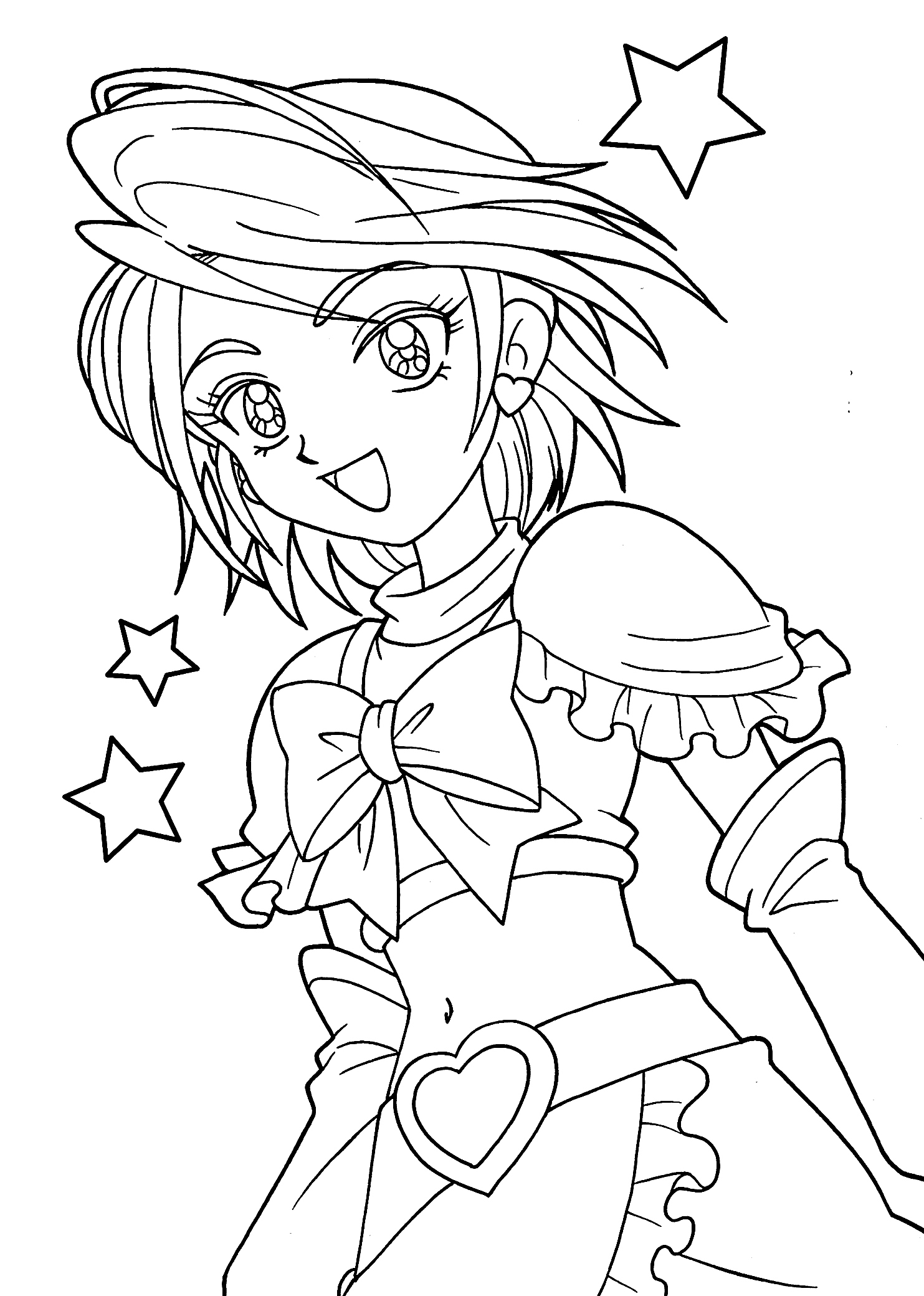 1483x2079 Printable Coloring Pages For Girls Awesome Best Of Anime Girl