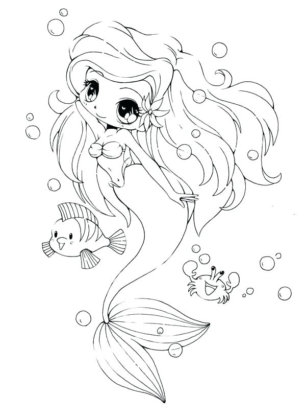 600x820 Anime Girl Coloring Pages