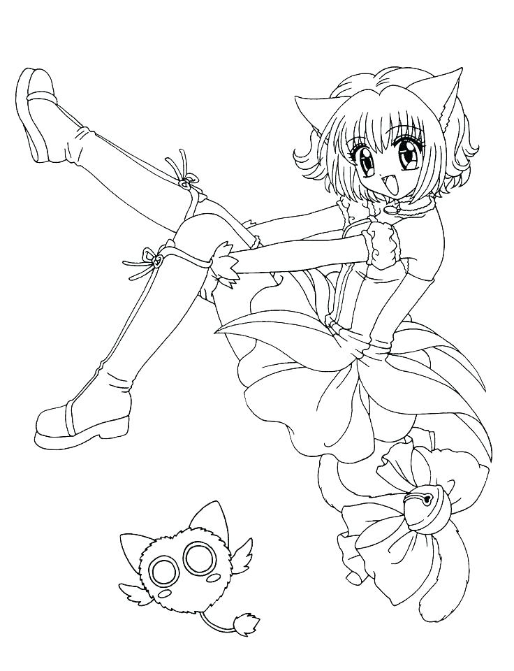 736x960 Anime Girl Coloring Page Cute Anime Coloring Pages Stock Anime