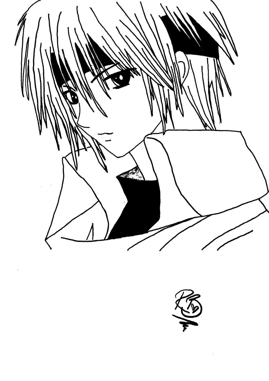 1024x1448 Anime Male Coloring Boy