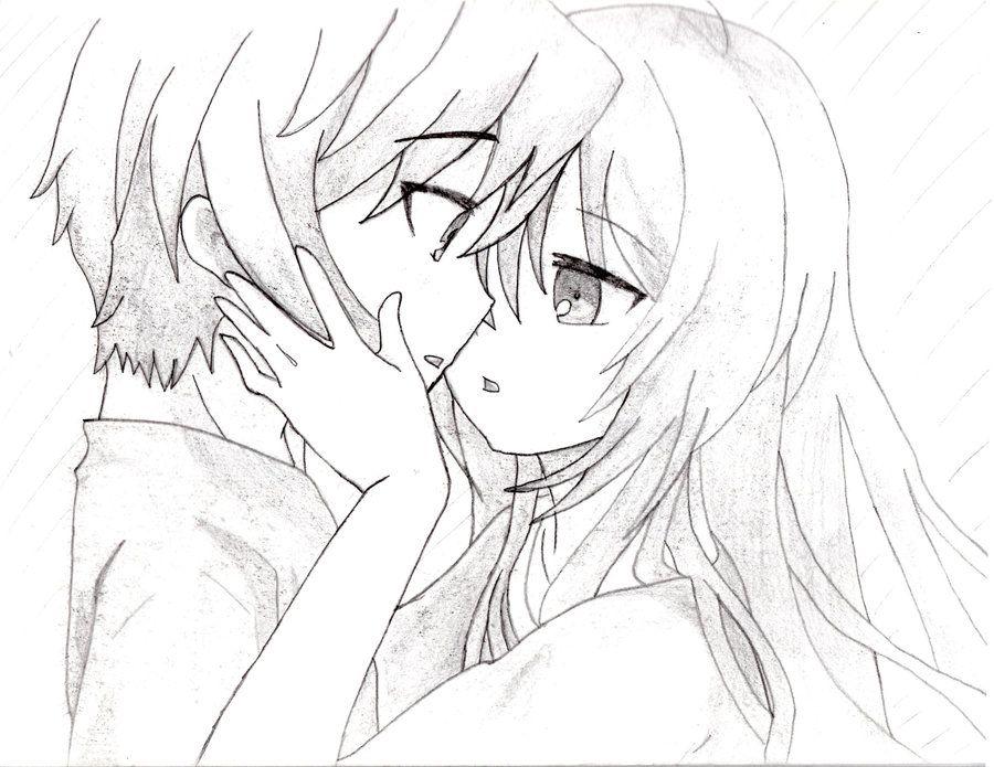 900x695 Anime Kiss Sketch