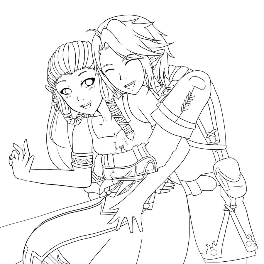 900x900 Anime Zelda Colouring Pages, Anime Love Coloring Pages
