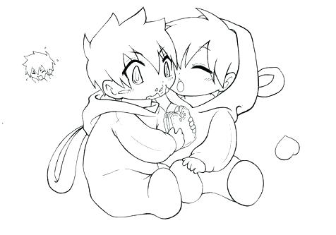 476x333 Anime Couples Coloring Pages Emo Anime Couple Kissing Coloring