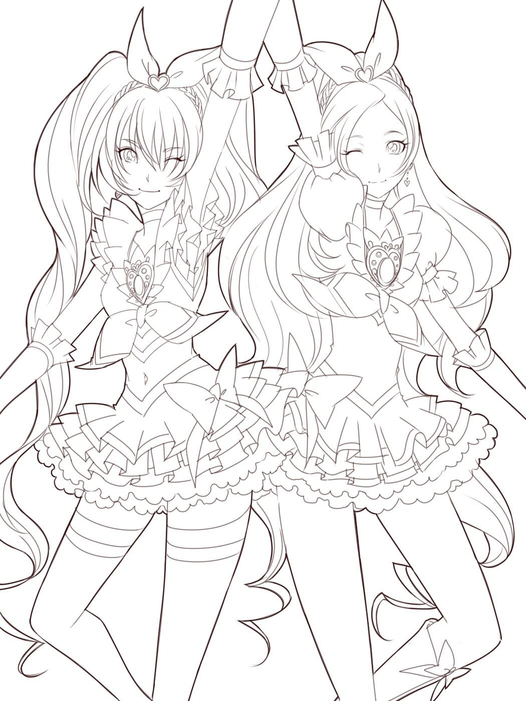 1050x1400 Anime Lineart Coloring Pages Coloring Sheets