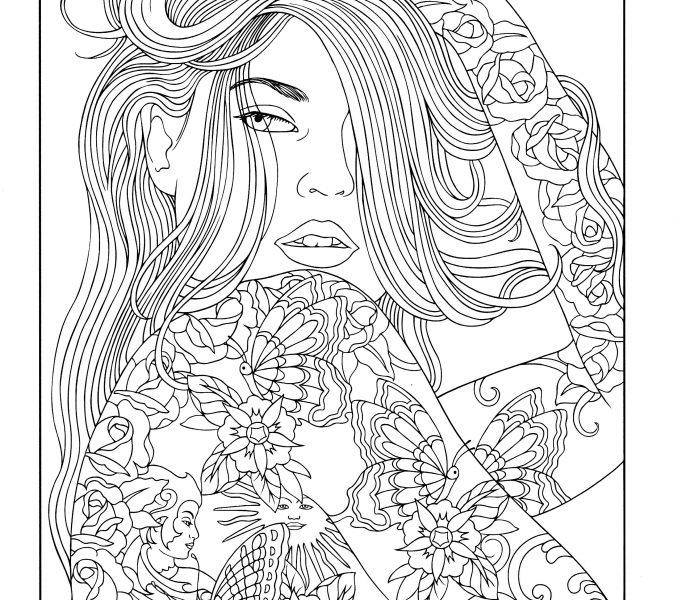 678x600 Line Art Coloring Pages