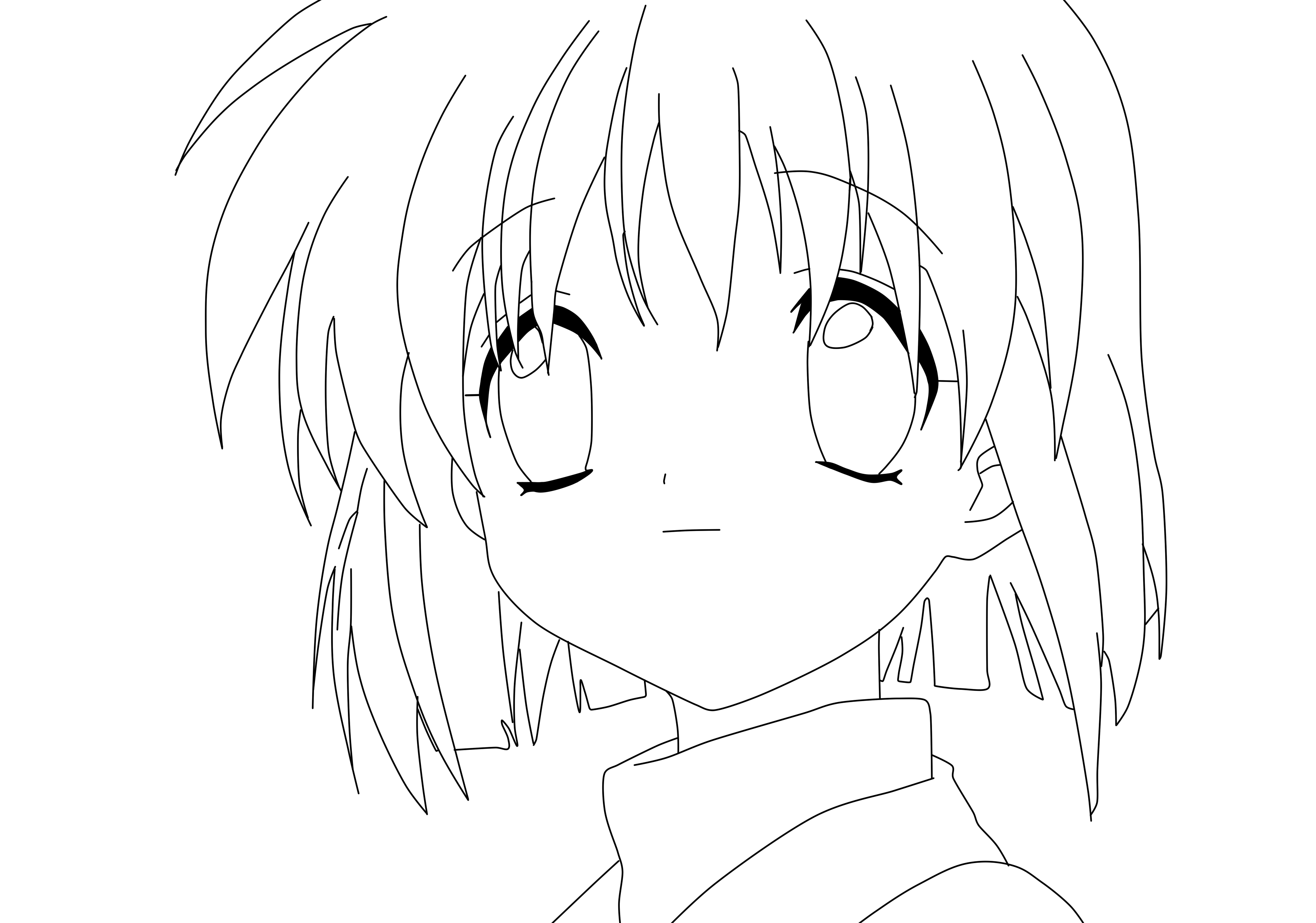 3752x2632 Anime Coloring Pages