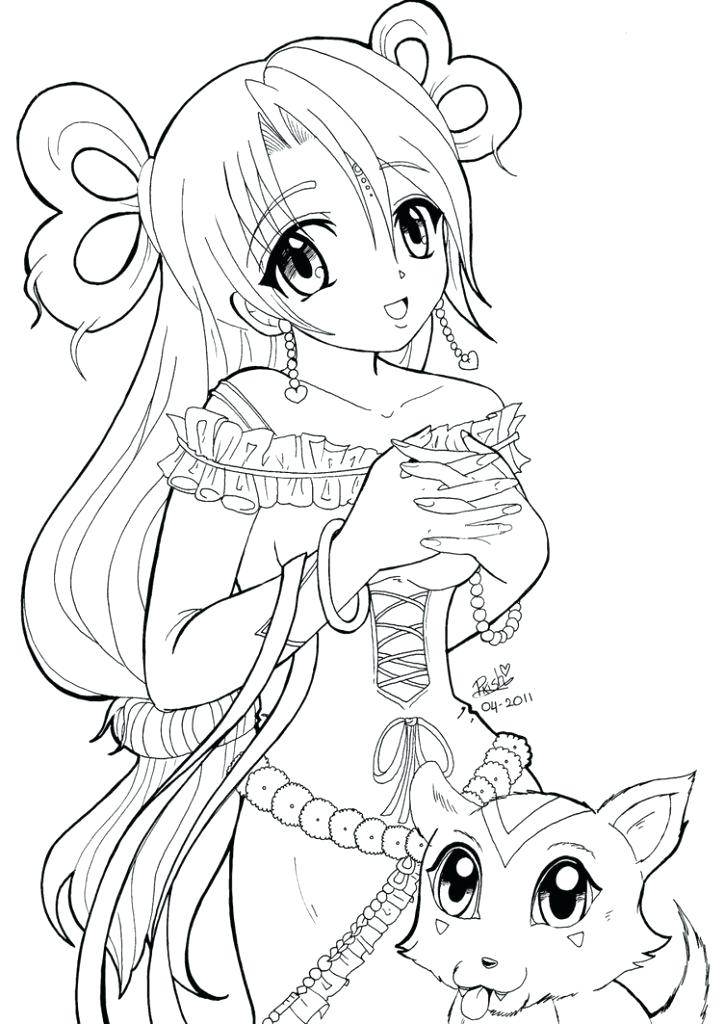 724x1024 Anime Coloring Pages Chibi Anime Coloring Pages For Kids Cute
