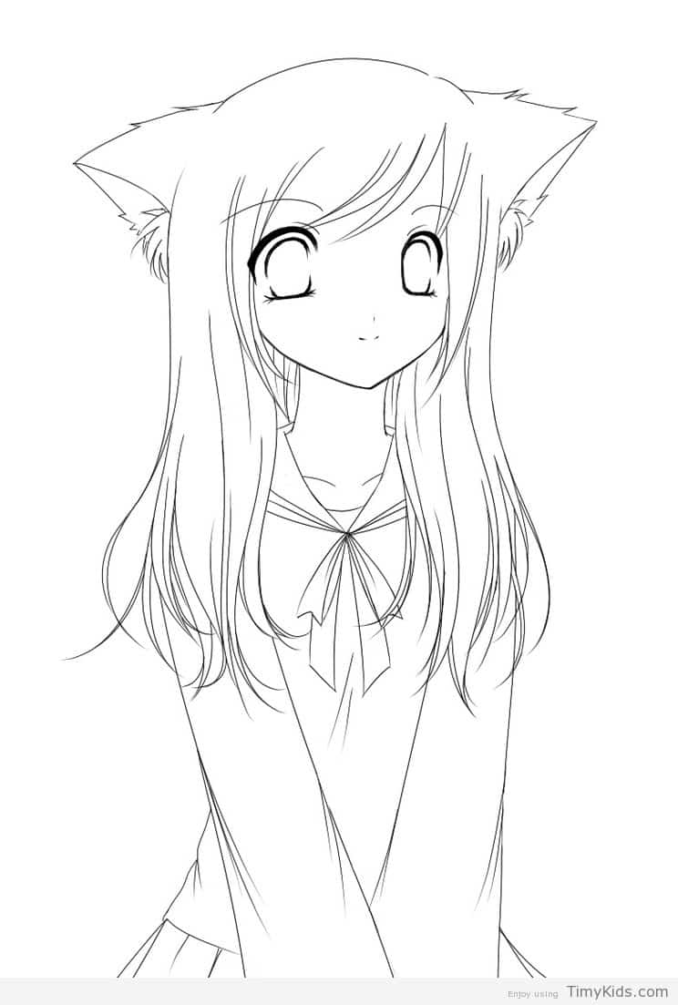 744x1103 Anime Coloring Pages Timykids