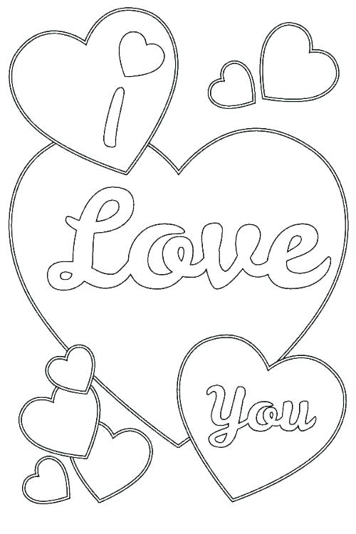 500x750 Coloring Pages Of Love Coloring Love I Love You Coloring Pages As